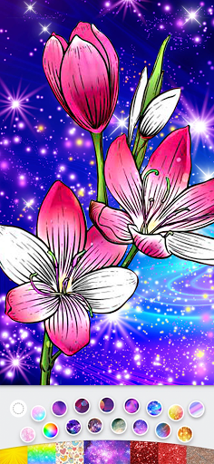 Color By Number Sparkling color book Girly Color  screenshots 13