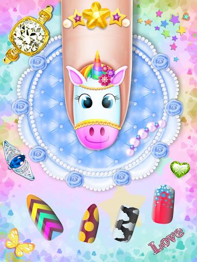 Manicure Nail Salon- Unicorn Fashion Game for Girl apkdebit screenshots 12