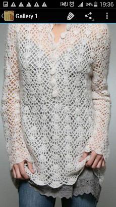 かぎ針編みのセーターのおすすめ画像5
