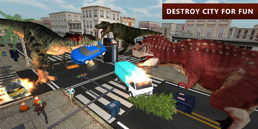 Dinosaur Simulator City Attack apkpoly screenshots 9
