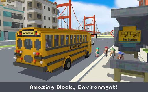 Blocky School Bus & City Bus Simulator Craft 1.9 screenshots 2