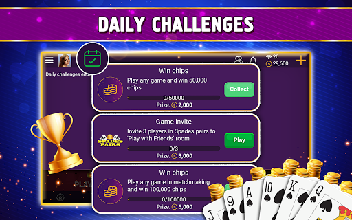 VIP Spades - Online Card Game screenshots 21