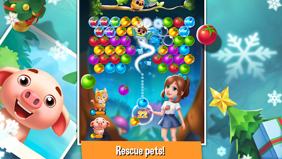 Bubble Fruit: Pet Bubble Shooter Games
