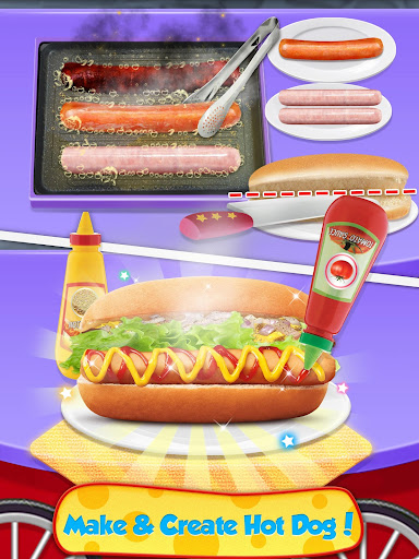 Street Food  - Make Hot Dog & French Fries screenshots 6