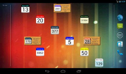 Days  Left (countdown timer) 2.2.1 Screenshots 8