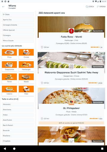 Just Eat Italy - Ordina pranzo e cena a Domicilio apktram screenshots 7