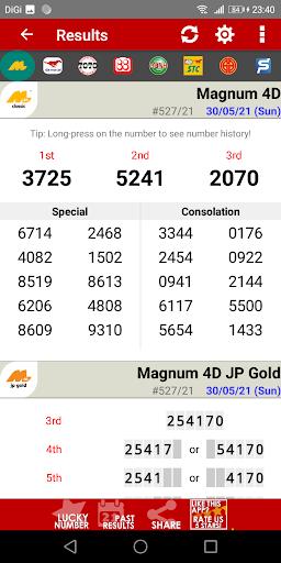 Live 4D Results (MY & SG) apktram screenshots 2