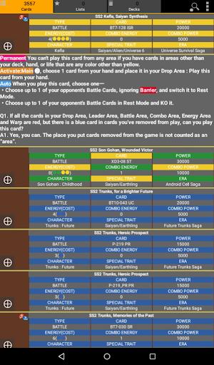 Database for Super Ball Dragon TCG 1.75 screenshots 9