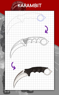 How to draw weapons step by step, drawing lessons 1.6.4 Screenshots 22