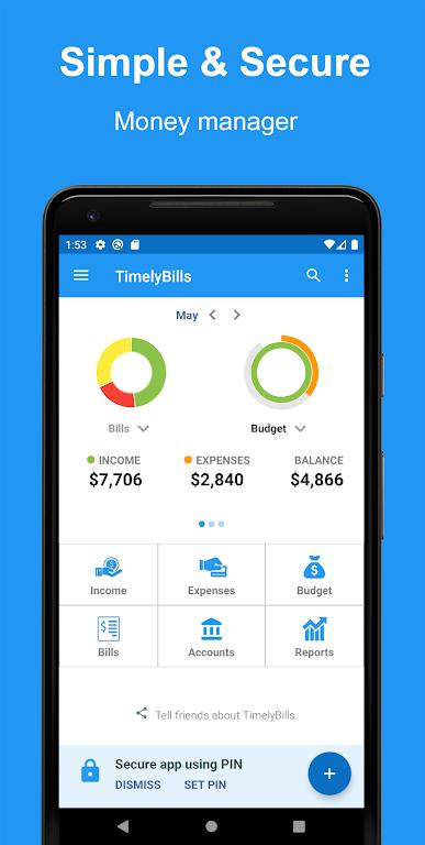Money Manager App, Budget, Expense tracker & Bills  poster 0