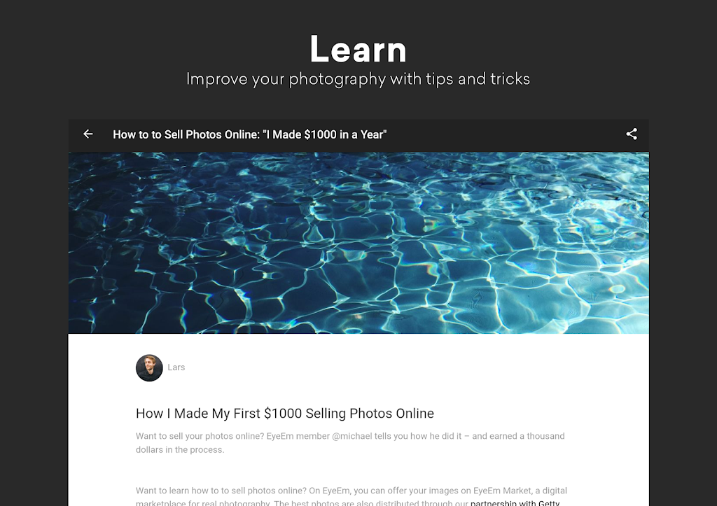EyeEm: Free Photo App For Sharing & Selling Images  poster 10
