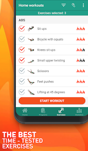 Everyday home workouts - gymnastics training