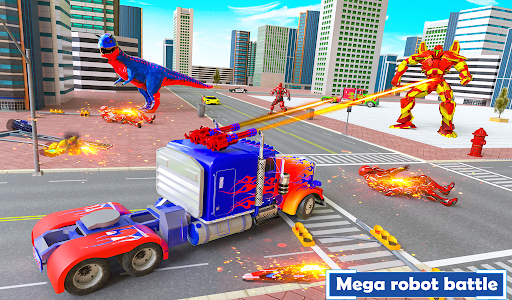 Flying Dragon Transport Truck Transform Robot Game  screenshots 6