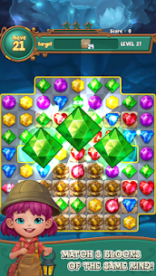 Jewels fantasy: Easy and funny puzzle game 1.7.2 Apk + Mod 1