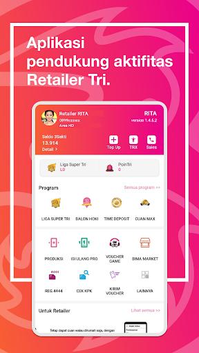 RITA: Informasi & Aktivitas Retailer Tri Indonesia  screenshots 1