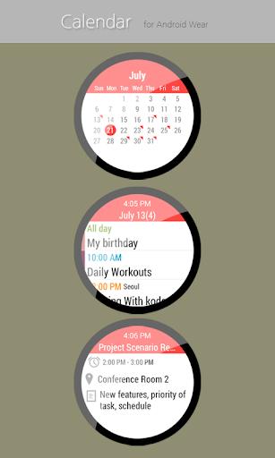 Calendar for Wear OS  screenshots 1