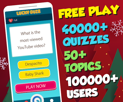 Trivia game & 30k+ quizzes, free play - Lucky Quiz 1.700 screenshots 1