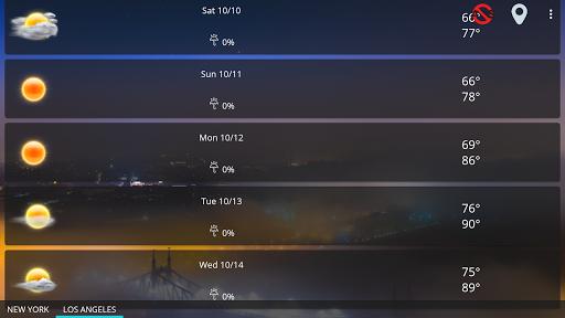 Weather forecast & transparent clock widget  Screenshots 11