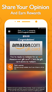 QuickThoughts: Take Surveys Earn Gift Card Rewards 2