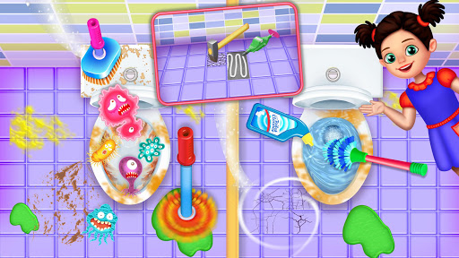 Messy High School Cleaning: Girl Room Cleanup Game screenshots 14