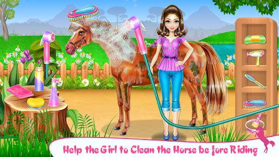 horse care and riding hack