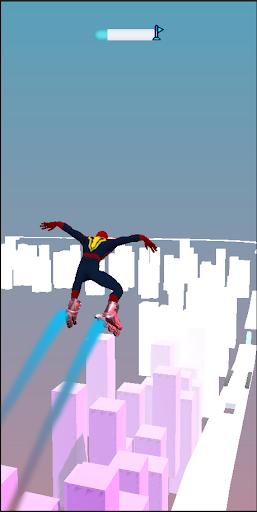 SuperHeroes Skates: Sky Roller apkpoly screenshots 3