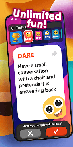 Truth or Dare - Funny Questions and Challenges 23.65 screenshots 5