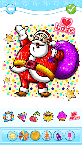 Christmas Coloring Game - Learn Colors  screenshots 1