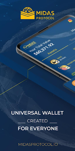 Midas Crypto Wallet: Bitcoin, Ethereum, XRP, EOS 1.9.5 Screenshots 1