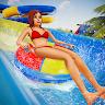 Uphill Rush Path Water Slide Aqua Park Race Games game apk icon