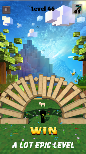 Break Block - Recuse The Pig - Puzzle Miner Game apkpoly screenshots 2
