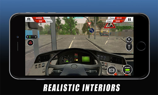 Euro Coach Bus Driving - offroad drive simulator android2mod screenshots 3