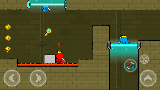 Red and Blue Stickman : Animation Parkour 1.0.6 screenshots 4