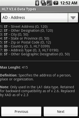 HL7 V2.6 Data Types ss2