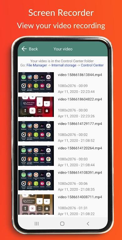 Control Center IOS 14 - Screen Recorder  poster 3