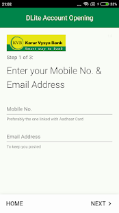 KVB - DLite & Mobile Banking Screenshot