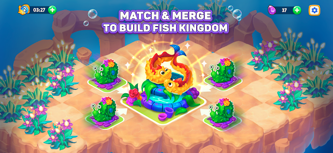 Sea Merge! Fish Games in Aquarium & Ocean Puzzle Mod 1.8.1 Apk [Unlimited Money] 1