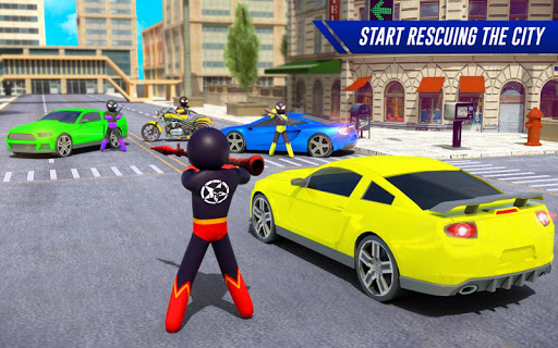 Stickman Moto Bike Hero: Crime City Superhero Game 5 Screenshots 7