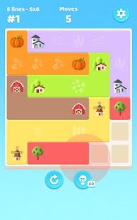 Line Scapes: Brain puzzle. Connect colorful tiles