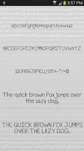 Hand2 fonts for FlipFont® free Screenshot