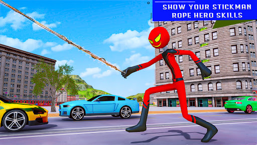 Flying Stickman Rope Hero  screenshots 8