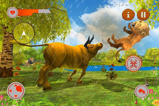 Wild Bull Family Survival Sim apkpoly screenshots 8