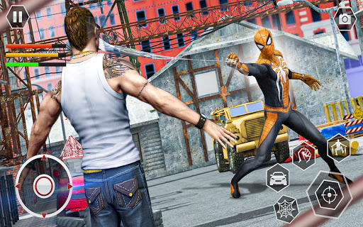 Spider Rope Superhero War Game - Crime City Battle  screenshots 8