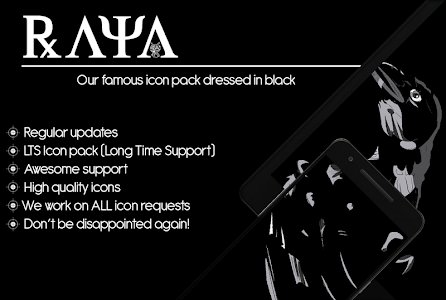 Raya Black Icon Pack - 100% Black 58.0 (Patched)