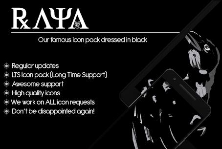 Raya Black Icon Pack APK (PAID) Download Latest Version 1