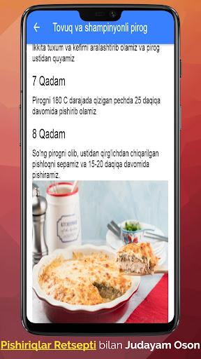Pishiriqlar Retsepti Uzbek Tilida_TOP PiSHiRiQLaR 2.4.4 Screenshots 3