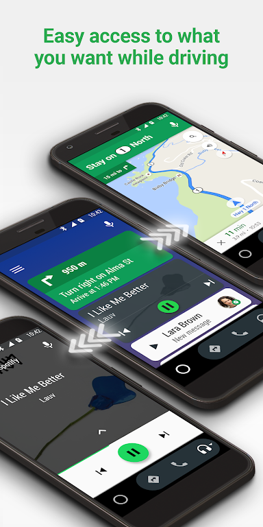 Android Auto - Google Maps, Media & Messaging  poster 4