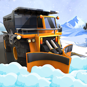 Heavy Snow Plow Excavator Truck Driving Simulator