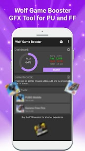 Wolf Game Booster & GFX Tool for PU and FF Screenshot