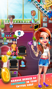 Tattoo Dash : Artistic Designs Shop Simulator Game